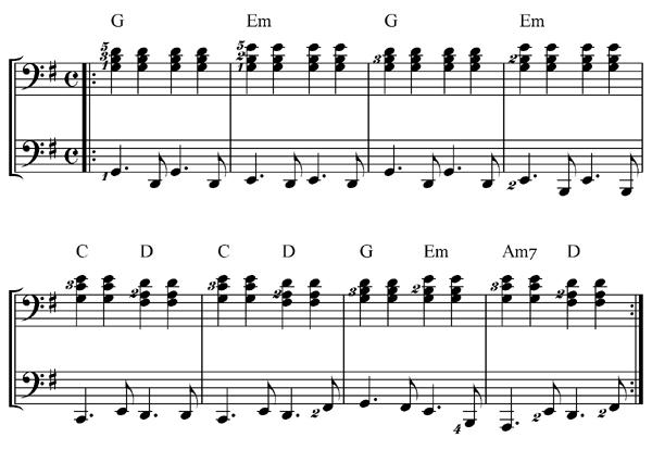 piano riff